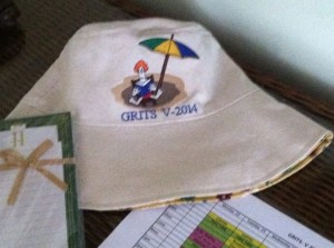 Swag includes hand-made hat designed by Peggy Grant