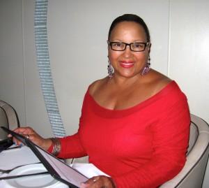 Denise Mahnken on the Pacific Ocean, April, 2014