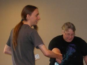 Thomas Reinke, Division 1 Winner, with Director Lynda Finn