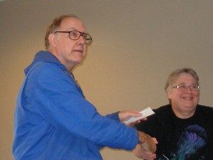 Joe Roberdeau, Division 2 winner, with Lynda