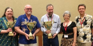 2016 Word Cup Winners:  Lindsey Dimmick, Fran Galt, Ian Weinstein, with sponsors Roxanne and Hank Boryczki of AZ Trails Travel
