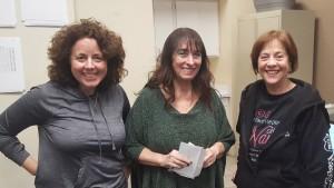 Division E winners: Deborah Komatsu (2nd), Lois Oda (high play), Marlene Cain (1st)