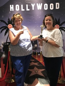 We took a tour of Hollywood and environs.   Peggy and Sue Grant graciously accepted an Oscar.