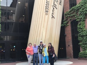 At the Louisville Slugger factory